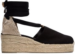 black campesina 30 canvas wedge espadrilles