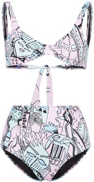 Far Away printed bikini - Multicolour