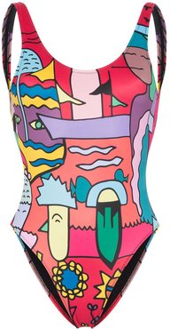 Lily printed swimsuit - Multicolour