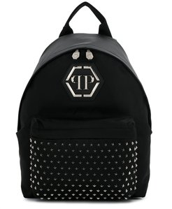 logo backpack - Black