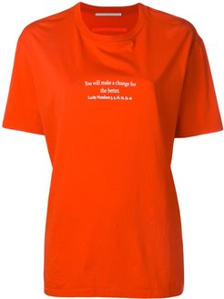slogan T-shirt - Red