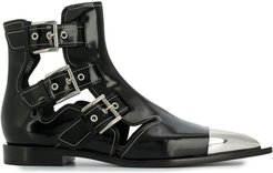 Cage ankle boots - Black