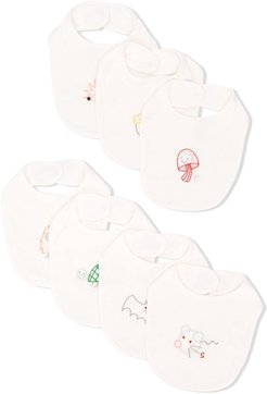 embroidered bib selection - White