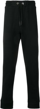 straight leg track pants - Black