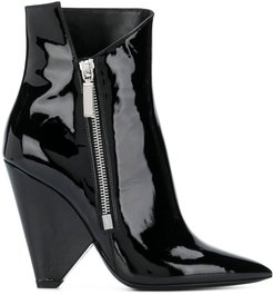Niki wedge booties - Black