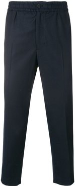 cropped fit trousers - Blue