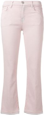 cropped flared jeans - PINK