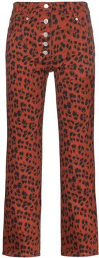 Junior leopard print trousers - Red