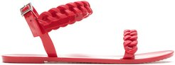 Jelly braided sandals - Red