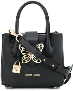 butterfly tote bag - Black
