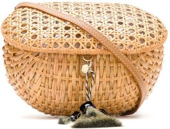 straw box bag - NEUTRALS