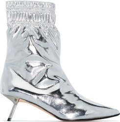 Volcano metallic ankle boots - SILVER