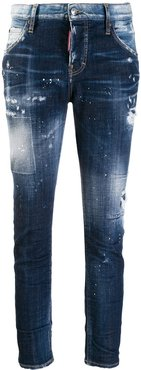 distressed skinny jeans - Blue