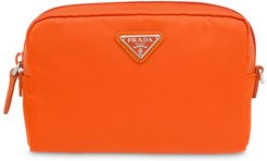 Fabric cosmetic pouch - ORANGE
