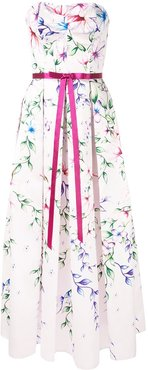 Mikado midi tea dress - White