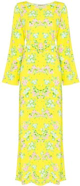 Monica floral print maxi dress - Yellow