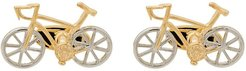 bicycle cufflinks - GOLD