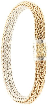 18kt yellow gold and sterling silver Classic Chain reversible bracelet