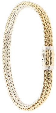 18kt yellow gold and sterling silver Classic Chain extra-small reversible bracelet