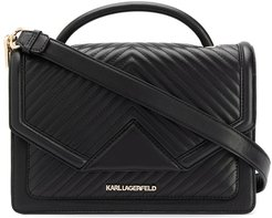 K/Klassik quilted shoulder bag - Black