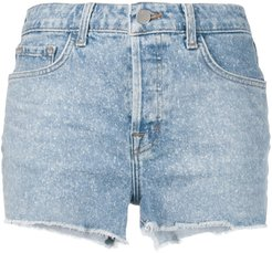 cutoff jean shorts - Blue