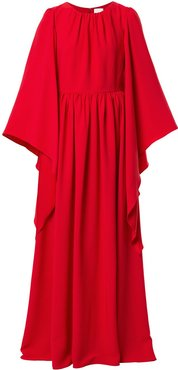 draped caftan maxi dress - Red