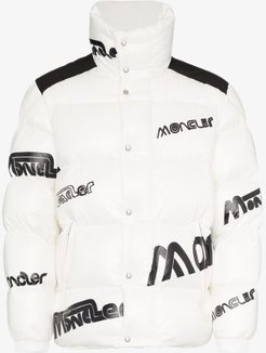logo feather down puffer jacket