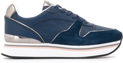 perforated sneakers - Blue