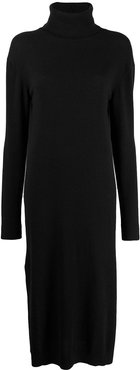roll-neck sweater dress - Black