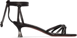 ankle tie strappy sandals - Black
