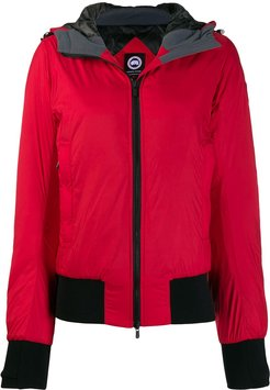 zipped padded jacket - Red