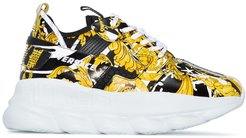 Chain Reaction 2 Baroque print sneakers - Black
