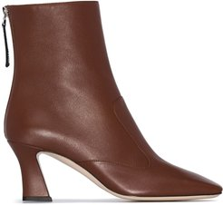 FFreedom square toe ankle boots - Brown