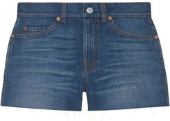 mini denim shorts - Blue