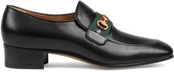 leather loafers with GG Horsebit - Black