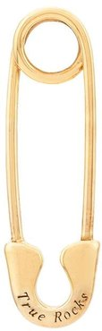 safety pin stud earring - GOLD