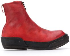 front zip boots - Red