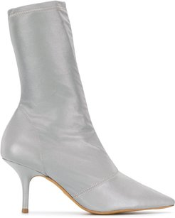 pointed sock boots - Grey