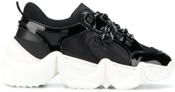 statement runner sneakers - Black