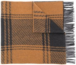 Brown & Charcoal Cashmere Blend Scarf | ACC-020