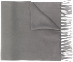 Grey Cashmere Embroidered Scarf | ACC-013/E