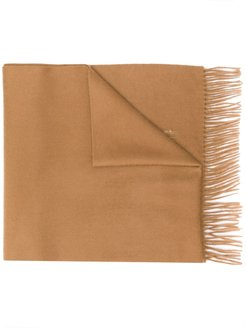 Camel Cashmere Embroidered Scarf | ACC-013/E - Brown