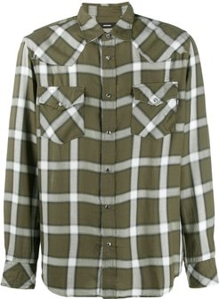checked Western shirt - Green