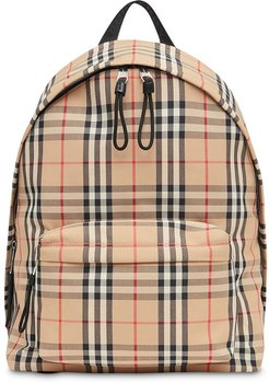 Vintage Check Nylon Backpack - Neutrals