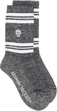skull knitted socks - Metallic