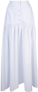 button front skirt - White