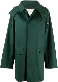 single-breasted mid-length coat - Green