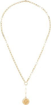 14kt gold and diamond drop pendant necklace