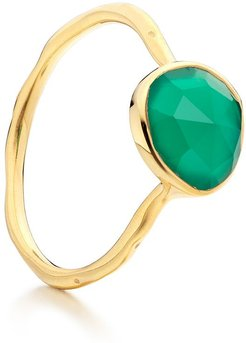 Siren Stacking Green Onyx ring - GOLD