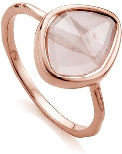 Siren Small Nugget Stacking Rose Quartz ring - PINK